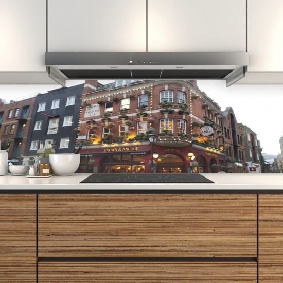 Schienale cucina personalizzato in vetro